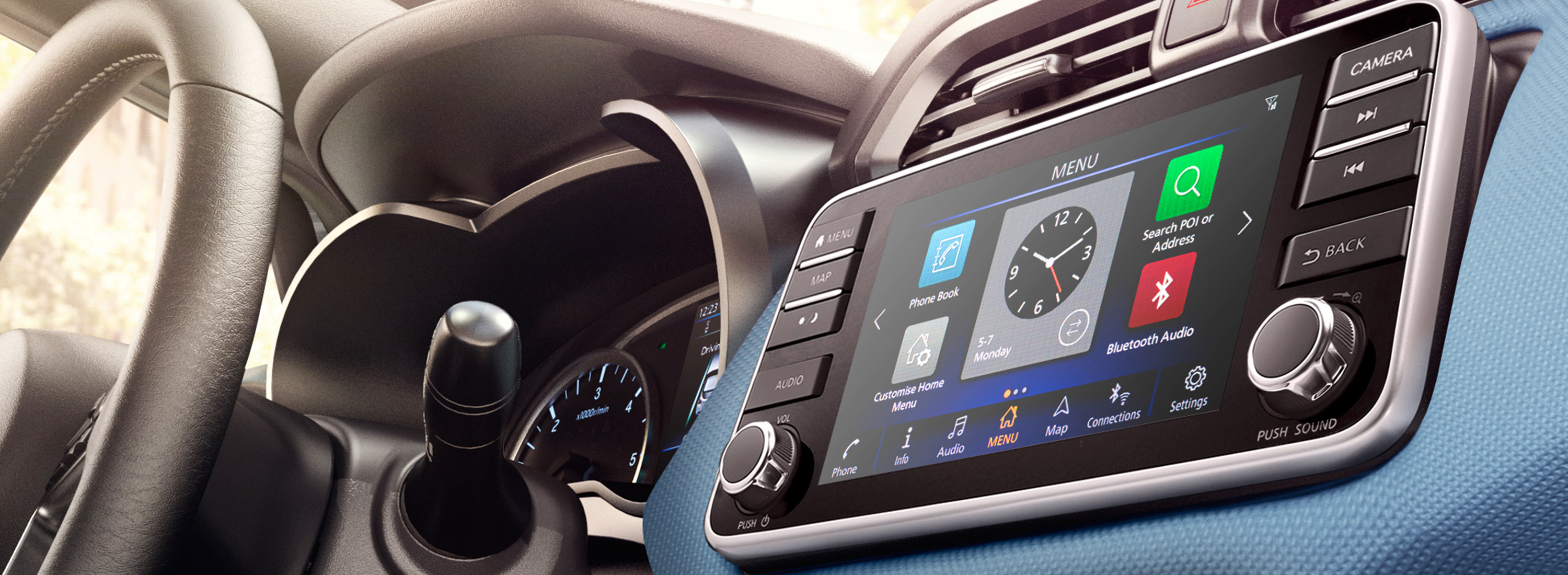 Nissan Micra 7-inch Touch-Screen Display